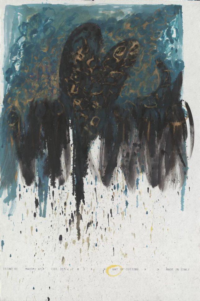 Blames<br /> Acrylic on paper<br /> 140X80 cm