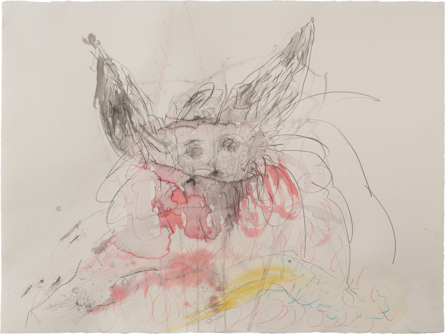 The little bunny<br /> Mixed media on paper<br /> 77X60 cm