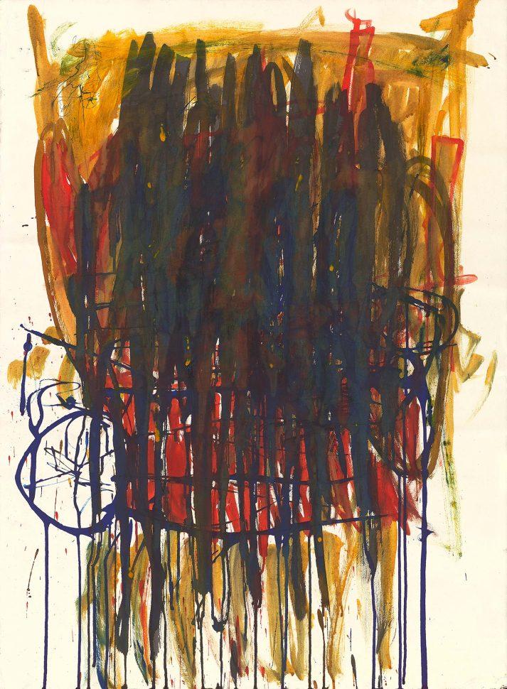 Pnimit B<br /> Ink & acrylic on paper<br /> 120X80 cm