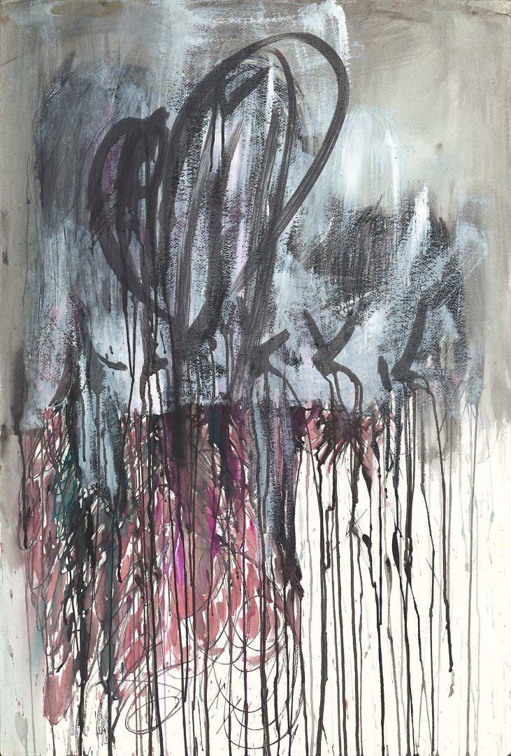 Feminine heart<br /> Ink & acrylic on paper<br /> 90X70 cm