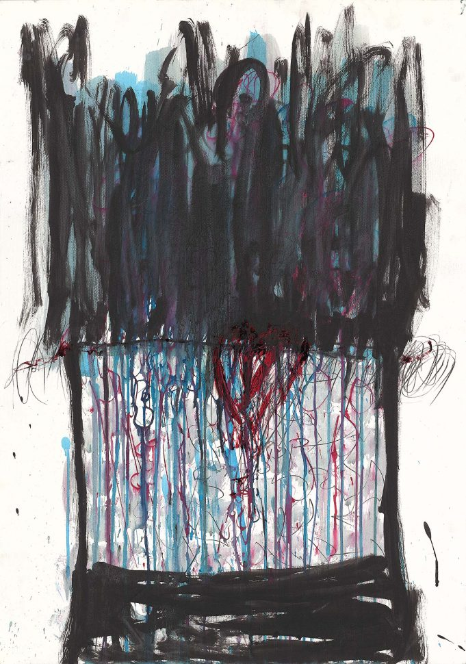 Time for love<br /> Ink & acrylic on paper<br /> 90X70 cm