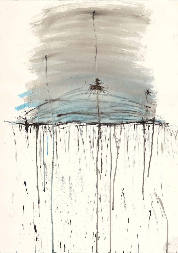 Yam Yabasha<br /> Ink on paper<br /> 90X70 cm