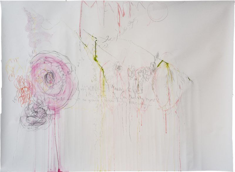 Untitled<br /> Mixed media on paper<br /> 170X120 cm