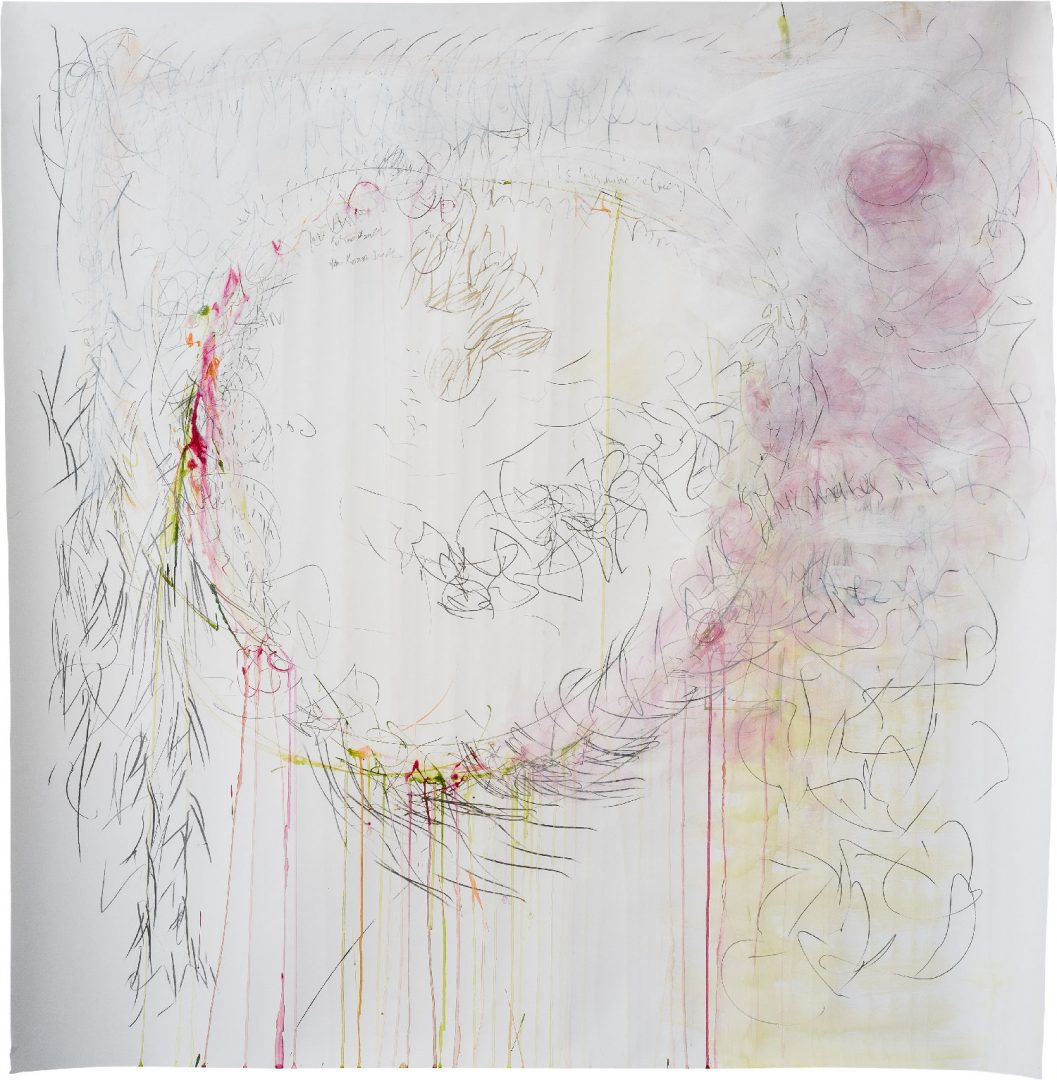 Circle<br /> Mixed media on paper<br /> 150X150 cm