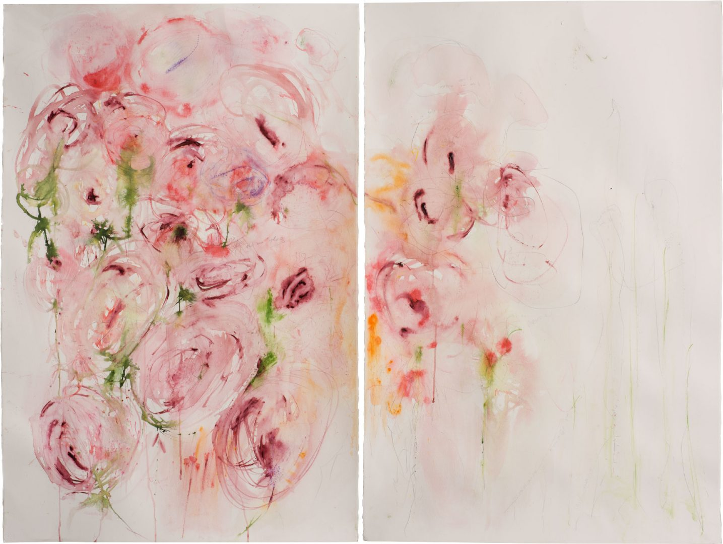 To feel like a flower<br /> Mixed media on paper<br /> 80X120 cm